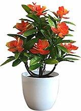 Godagoda Kunstblumen im Topf Deko Orchidee