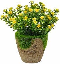 Godagoda Kunstblumen im Topf Kunststoff
