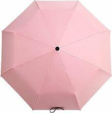 Goddess Ultraleichter Dual-use Falten Sonnenschutz UV-Schutz Sonnenschutz Regenschirm,Pink01