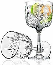 Godinger Gin Cocktail Coupe Goblet Glass - Dublin