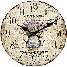 GODNECE 30cm Wanduhr Shabby Chic Vintage Wall Clock