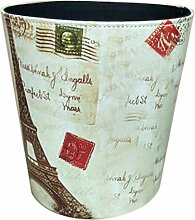 GODNECE Papierkorb Vintage Groß Abfalleimer 10L