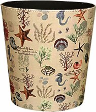 GODNECE Wasserdichte 10L Papierkorb für