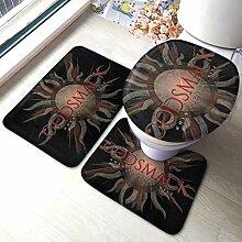 Godsmack Badematten Set 3 teilig Badgarnitur
