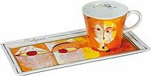 Goebel Baldgreis Kaffee Set, Porzellan, bunt, 24 x