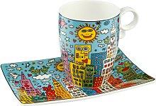 Goebel Becher City Day Einheitsgröße bunt Tassen