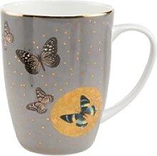 Goebel Becher Grey Butterflies Joanna Charlotte