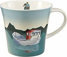 Goebel Becher, Tasse Scandic Home Fisching Boat