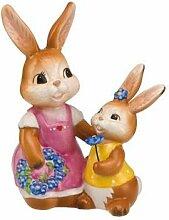 Goebel Ein Wunderschöner Blumenkranz, Hasen, Figur, Ostern, Dekoration, Porzellan, H 13 cm, 66844071