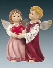 Goebel Engelpaar mit Herz - bordeaux