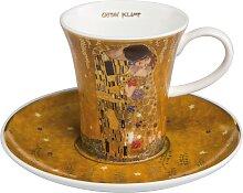 Goebel Espressotasse Der Kuss, goldfarben