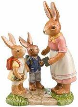 Goebel Kommt Gut zur Schule, Hasen, Figur, Ostern, Dekoration, Porzellan, H 16.50 cm, 66843871