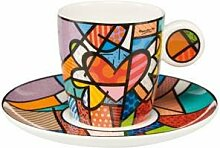 Goebel Romero Britto Pop Art Flying Heart -