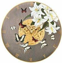 Goebel Uhr, Lilies Grey 30,5 / Lilies Grey, Clock