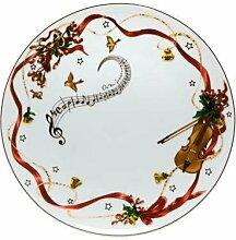 Goebel Weihnachten Weihnachtsgeschirr - Teller Bun