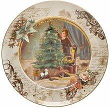 Goebel Weihnachtsbaum Weihnachtsteller Porzellan,