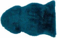 Gözze Teppich aus Schaffell, 60 x 90 cm, Petrol,