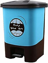 GOG Plastikbehälter-Mülleimer mit Pedal,