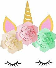 Gogagoda Blumen Einhorn Deko Geburtstag Dekoration