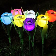Gogogo 1 X Tulpe Stil Solar LED-Licht Pfad