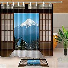 GoHEBE Japan Decor Holz Tür um die Halterung Fuji