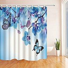 GoHEBE Orchideen-Duschvorhänge, klassisch,