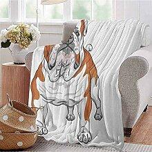 GOIIFLY Dekorative Decke Englische Bulldogge mit