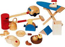 Goki 11-teilige Puppenhaus-Accessoires Küche