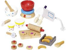 Goki 22-teilige Puppenhaus-Accessoires Backen
