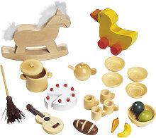 Goki 23-teilige Puppenhaus-Accessoires Puppenhaus