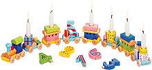 Goki Geburtstagszug mit Zahlen [Kinderspielzeug]