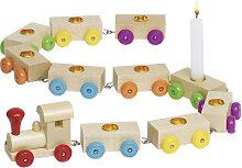Goki Geburtstagszug (Natur-Bunt) [Kinderspielzeug]