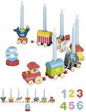 Goki Geburtstagszug Zirkuswelt mit Zahlen
