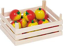 Goki Holzkiste mit Äpfeln [Kinderspielzeug]