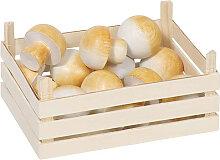 Goki Holzkiste mit Champignons [Kinderspielzeug]
