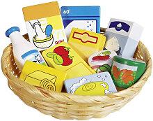 Goki Korb mit Spiel-Lebensmitteln und