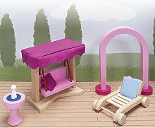 Goki Puppenhausmöbel Schloss Gartenmöbel [Kinderspielzeug]