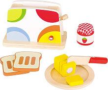 Goki Toaster mit Zubehör aus Holz (Bunt)