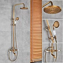 Gold Badewanne Dusche Wasserhahn Niederschlag