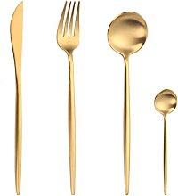 Gold Besteck Set Gabeln Löffel Messer Geschirr