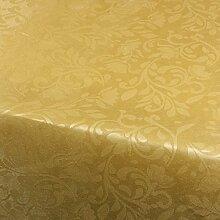 Gold Blumen Damast Tischdecke 180x130cm