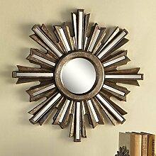 Gold Deco Sunburst konvex Wandspiegel