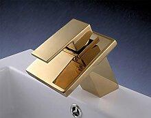 Gold Edition: Designer Armatur | Wasserfall Waschbecken