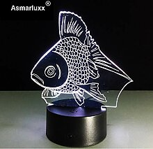 Gold Fisch Led Nachtlicht Usb Powered Led