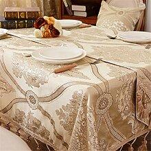 gold Geblümt Tischdecken Baumwolle leinen Europäischen königlichen Mittelmeer Esstisch Rezeption rechteckigen Square nicht bügeln umweltfreundlich garten Tischtuch