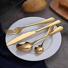 Gold Geschirr Set Edelstahl Besteck Set 4 Stück