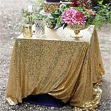 """Gold glitzernden Pailletten Tischdecke, Hochzeit Tischdecke, Sonstige, gold, 70""""x90"""
