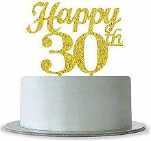 Gold Happy 30th Birthday Cake Topper-Hochzeit