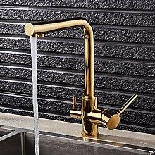 Gold Küchenarmatur Mit Gefiltertem Wasser Deck