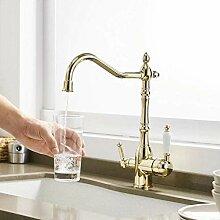 Gold Küchenarmatur mit gefiltertem Wasser Filter